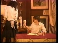 Vintage TS maid gets fucked on a table