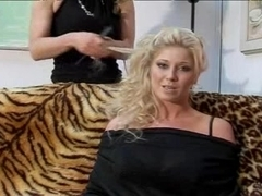British floozy Michelle gets drilled on the couch