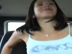 Young Latina college chick pick uped near the university