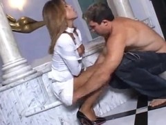 Hot blond shemale suck