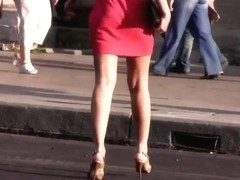 Girls walking down the Street - legs, ass and heels