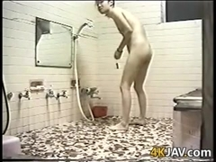 Japanese Lesbians Cleaning Each Other