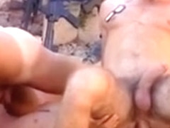 Gay military group sex outdoors