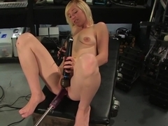 Crazy fetish adult video with incredible pornstar Amber Ann from Fuckingmachines