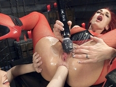 Horny fisting, fetish porn scene with hottest pornstars Casey Calvert and Celeste Summerz from Eve.