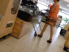 Milf in miniskirt part 1