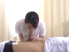 Fabulous Japanese whore Ririka Suzuki, Riri Kuribayashi, Megumi Shino in Incredible Blowjob/Fera J.