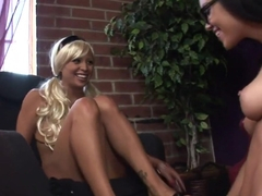 Amazing pornstars Ruby Knox and Amber Prossly in crazy brazilian, blonde porn movie