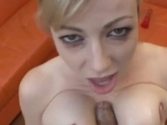 Fascinating deep throat blow from Adrianna Nicole