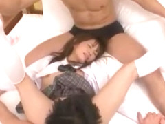 Best Japanese girl Mika Osawa in Incredible Threesomes, Cunnilingus JAV movie