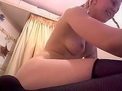 Dirty British Webcam Slag fingers pussy and arsehole