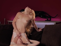 Odette Delacroix and her redhead GF have fun