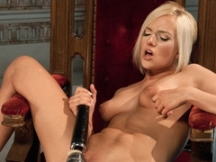 Crazy fetish, blonde adult clip with hottest pornstar Kate England from Fuckingmachines