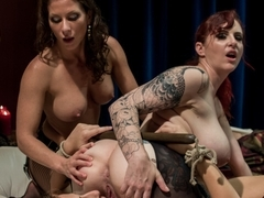 Horny lesbian, fetish sex video with exotic pornstars Ariel X, Andre Shakti and Mz Berlin from Whi.
