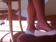 Candid Glamorous Golden-Haired Shoeplay Dangling Feet and Legs Pt two