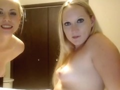 Horny Homemade clip with Blonde, Lesbian scenes