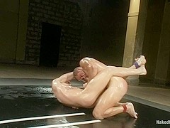 NakedKombat Trent Diesel vs Ryan Rockford The Oil Match