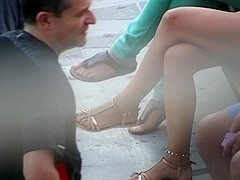 Candid Legs Feet and Face Spanish Milf (Part 2)