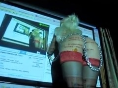 Fetish video with girl in chains