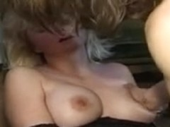 Middle aged blonde slut enjoying sex with a younger man