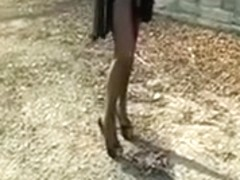 My sexy wife shows her beautiful legs for the camera