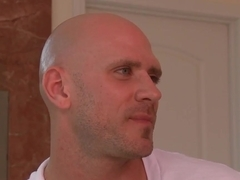 Johnny Sins tears Gracie Glam's cheek with his member