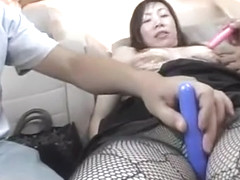 Exotic Japanese whore in Incredible Threesomes, Dildos/Toys JAV video