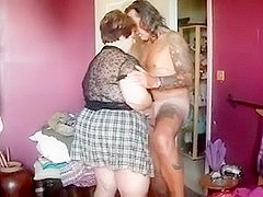 Fat mature French BBW sucks and gets boned