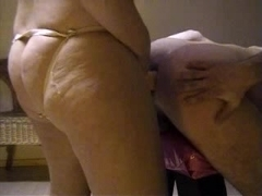 Fortunate spouse acquires thong on screwed by hawt wife two