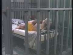 Retro lesbian prison porn with cunt rubbing and licking