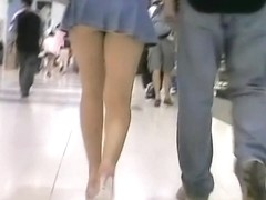 Incredibly thrilling upskirt voyeur footage