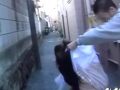 Inexperienced oriental gal receiving sharking treatment from some guy