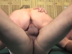 Busty blonde Kasey Grant gets nailed on pool table