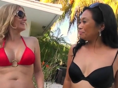 Lucky Starr and Brianna Ray playing
