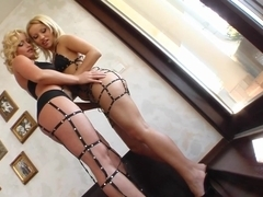 Fist Flush Pussy stretching and fisting by two eager babes