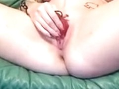 Cam wench smokin' blunt and fucking her own wazoo