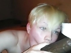 White wife swallowing BBC cum