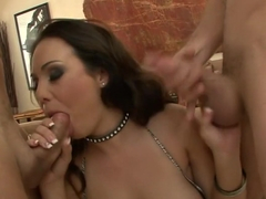 Hottest pornstar Holly West in exotic latina, facial sex scene