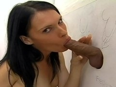 Jennifer Dark makes the dicks raise from glory holes