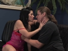 Rebeca Linares takes it in her vag and asshole