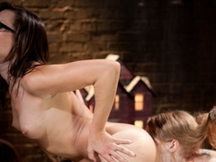 Amazing fetish, lesbian adult movie with hottest pornstars Sinn Sage and Ela Darling from Whippeda.