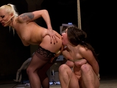 Hottest lesbian, fetish adult scene with crazy pornstars Serena Blair and Lorelei Lee from Whipped.