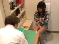 Perfect Jap creamed nicely in medical fetish spy cam video