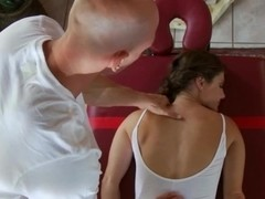 Hottie Jenni loves some hot massage after yoga exercise