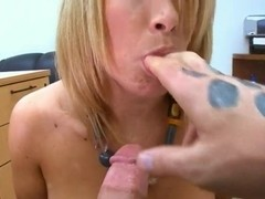 Charlee Parker likes to show her big boobs and make blowjobs