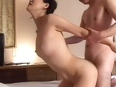 Best Japanese model in Crazy JAV uncensored Blowjob video