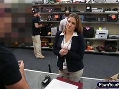 Pawnkeeper made a deal with busty business lady and fucked