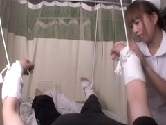Medical fetish sex video with asian nurse who rides a peter