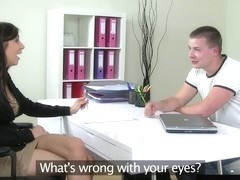 Auditioning euro babe pussylicked before riding