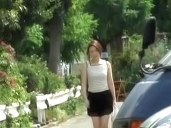 Asian babes with cute bags fall victim to skirt sharking.